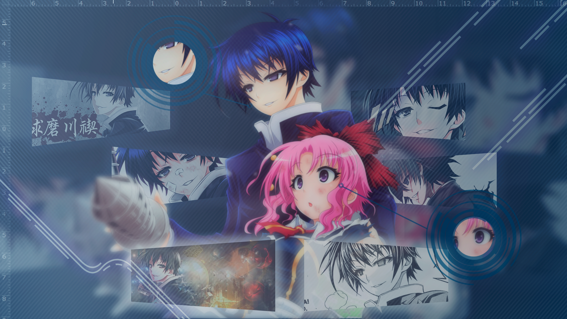 Medaka Box Anime Pink Hair Blue Hair Anime Girls Anime Boys Wallpaper Resolution 1920x1080 Id 699123 Wallha Com
