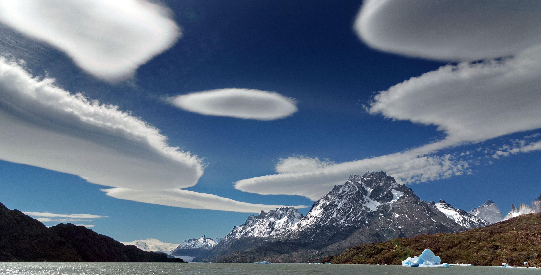 Cloud Patagonia Chile Sky Blue Mountain Iceberg Glacier Lake Landscape Nature Water 3000x1528