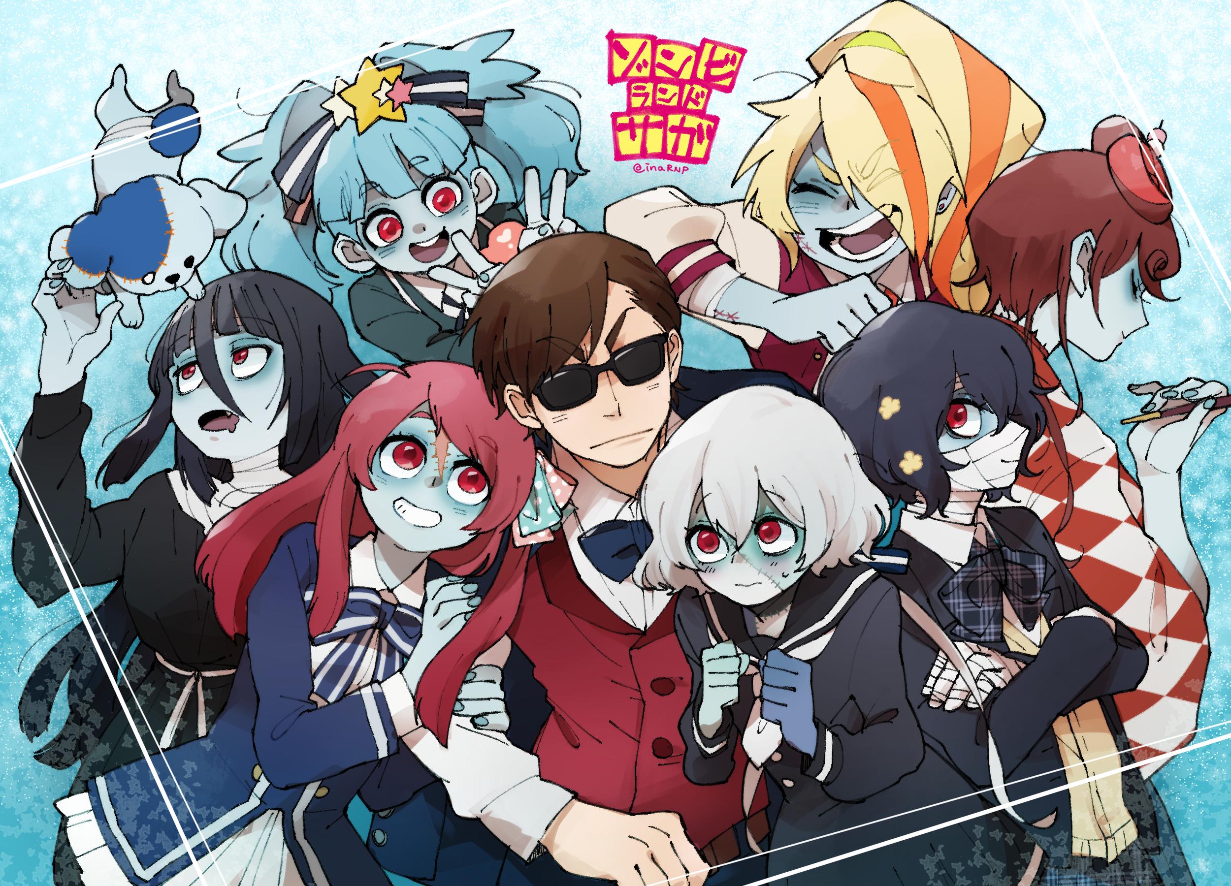 Zombieland Saga Anime Girls Zombie 0 Tae Yamada Zombie 1 Sakura Minamoto Zombie 2 Saki Nikaidou Zomb 2500x1800