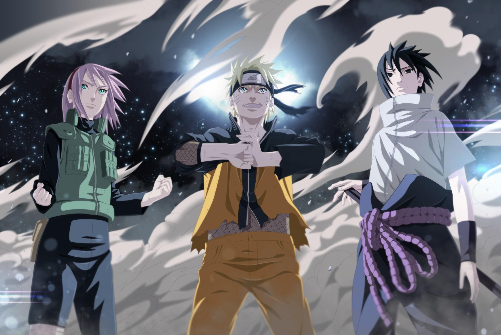 Naruto Naruto Uzumaki Sakura Haruno Sasuke Uchiha 2099x1403