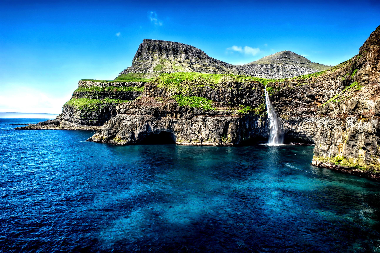Cliff Coast Coastline Earth Hawaii Ocean Rock Sea Waterfall 2585x1720