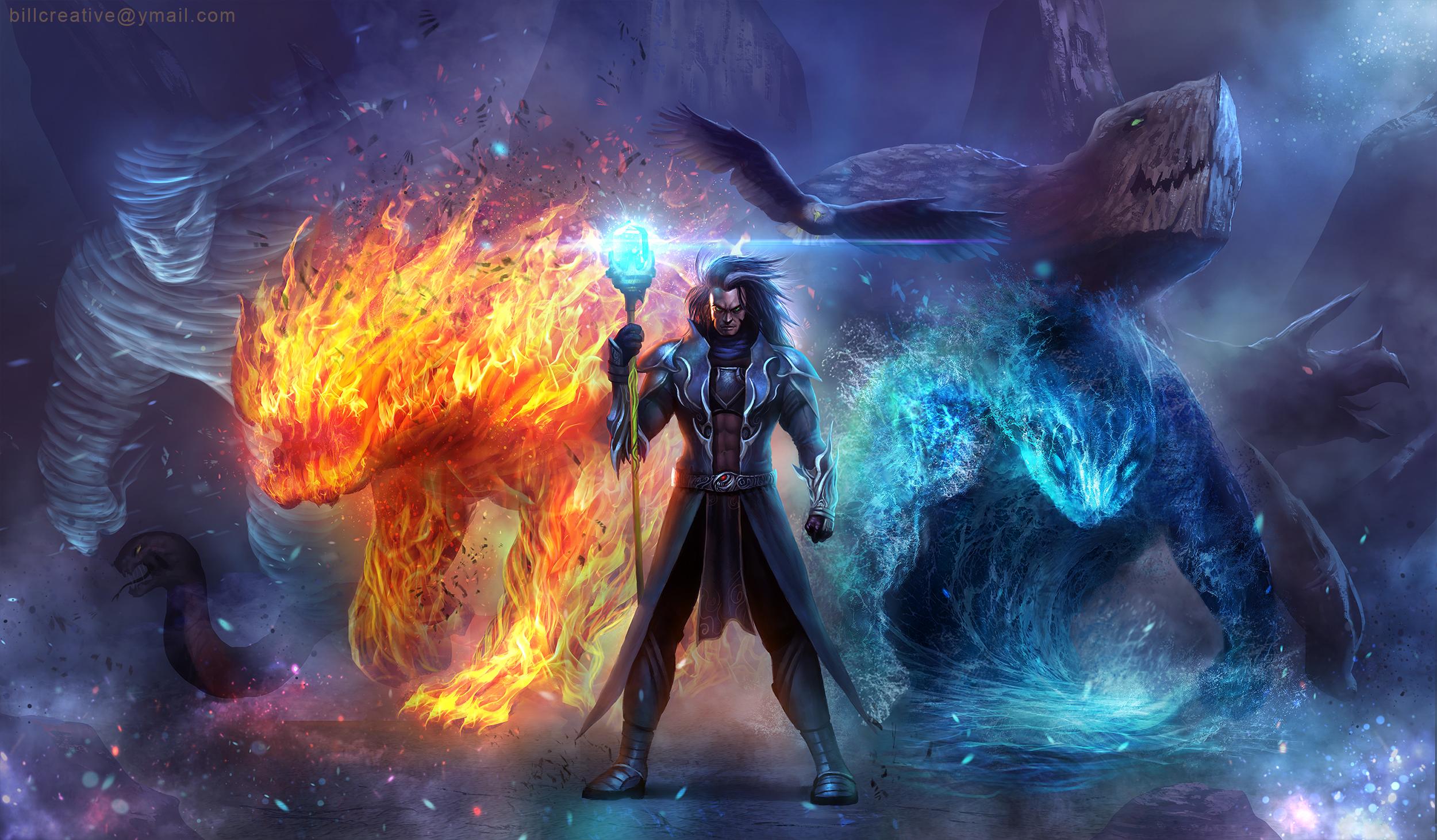 Creature Elemental Magic Wizard 2500x1462