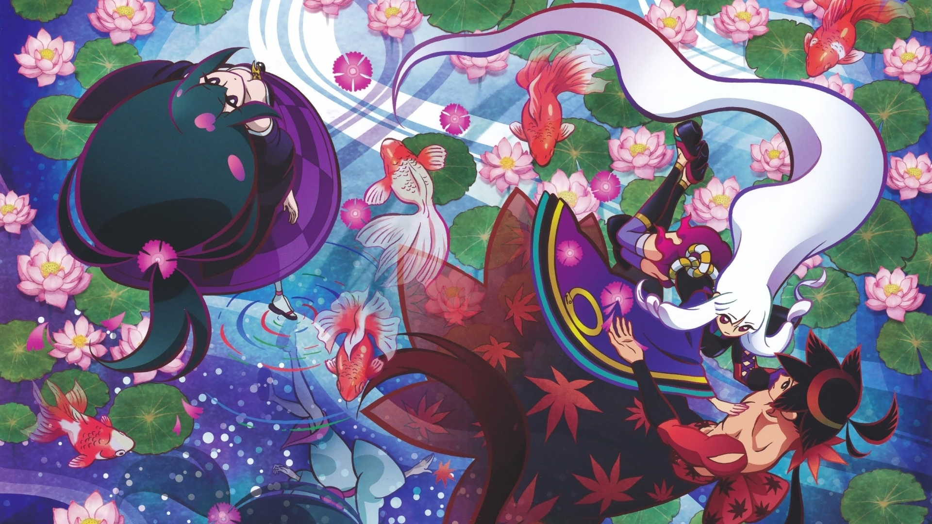 Katanagatari Togame White Hair Yasuri Nanami Yasuri Shichika Wallpaper Resolution 1920x1080 Id 714086 Wallha Com