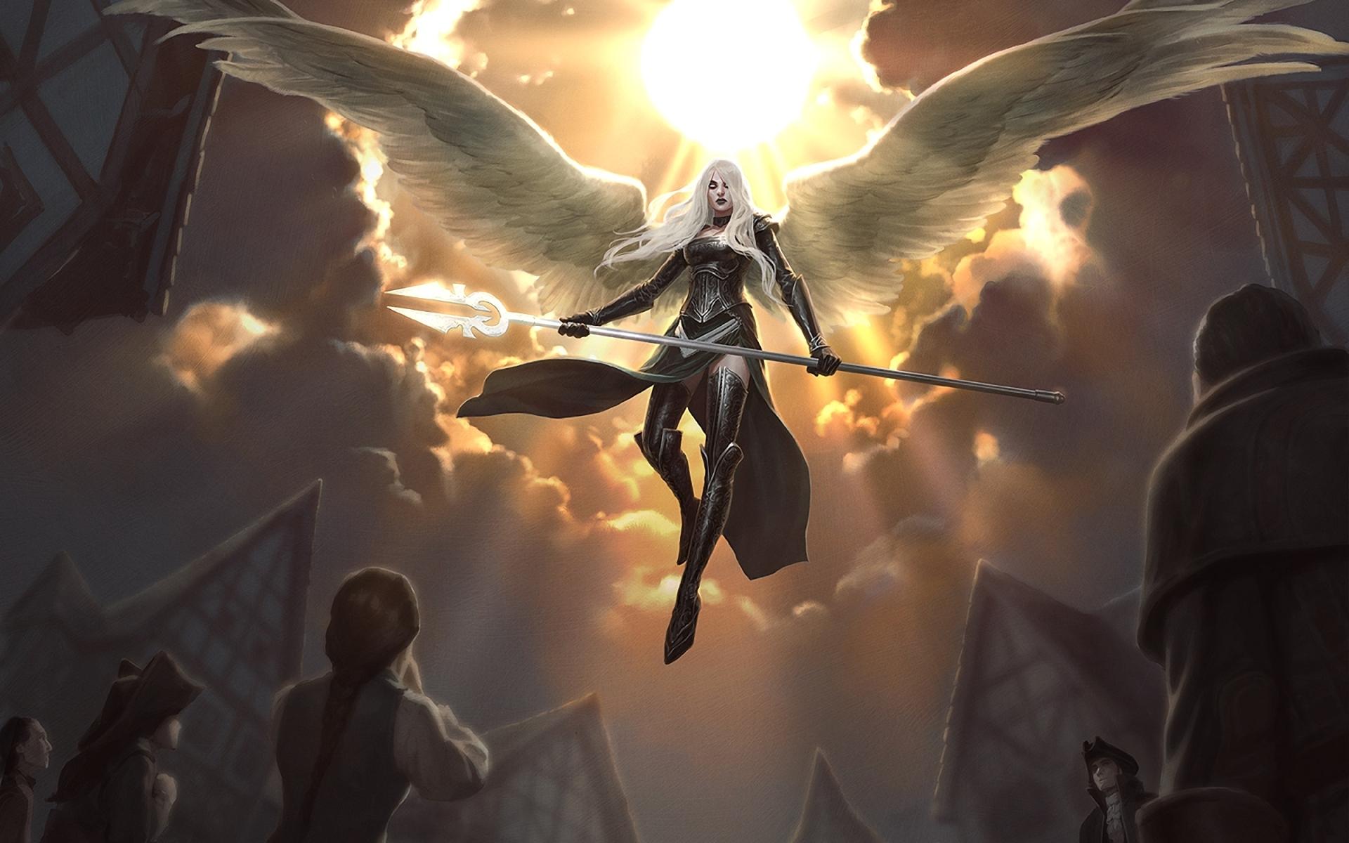 Angel Warrior Woman Warrior Angel Woman Avacyn Magic The Gathering 1920x1200