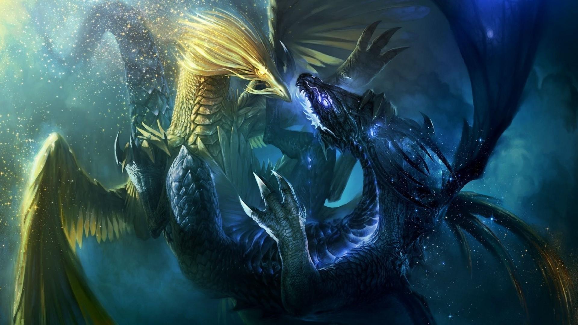 Fantasy Dragon Fight 1920x1080