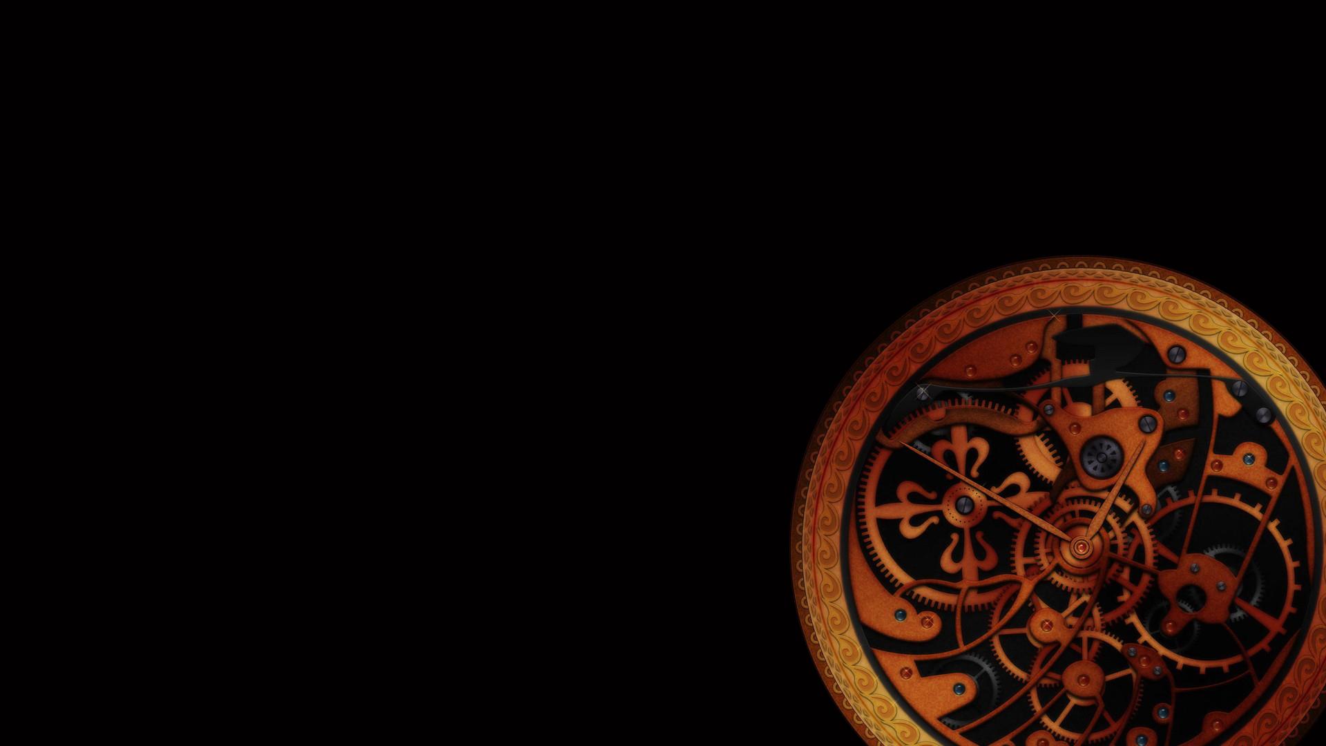 Clockworks Dark Steampunk 1920x1080