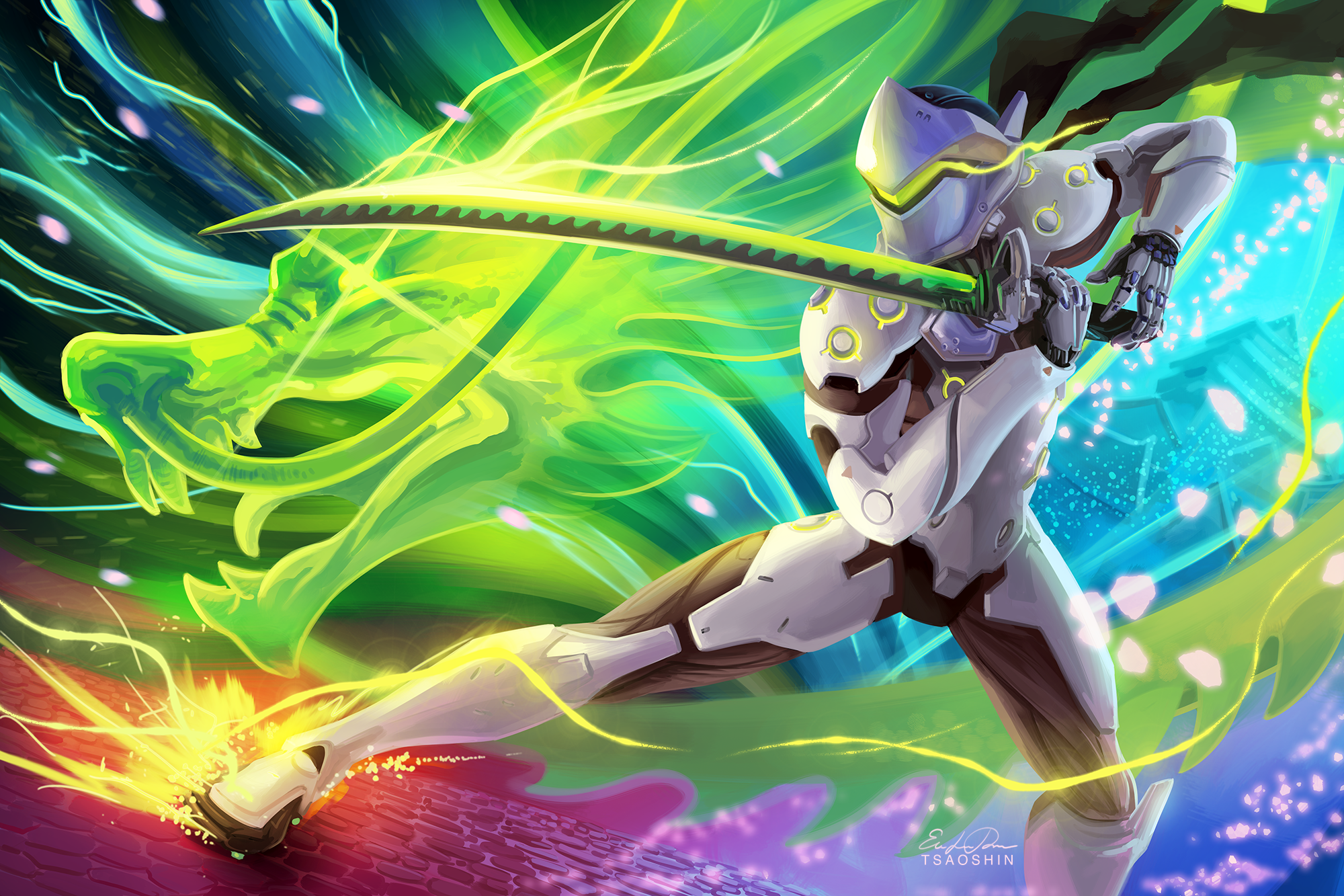 Dragon Genji Overwatch Overwatch 2000x1333