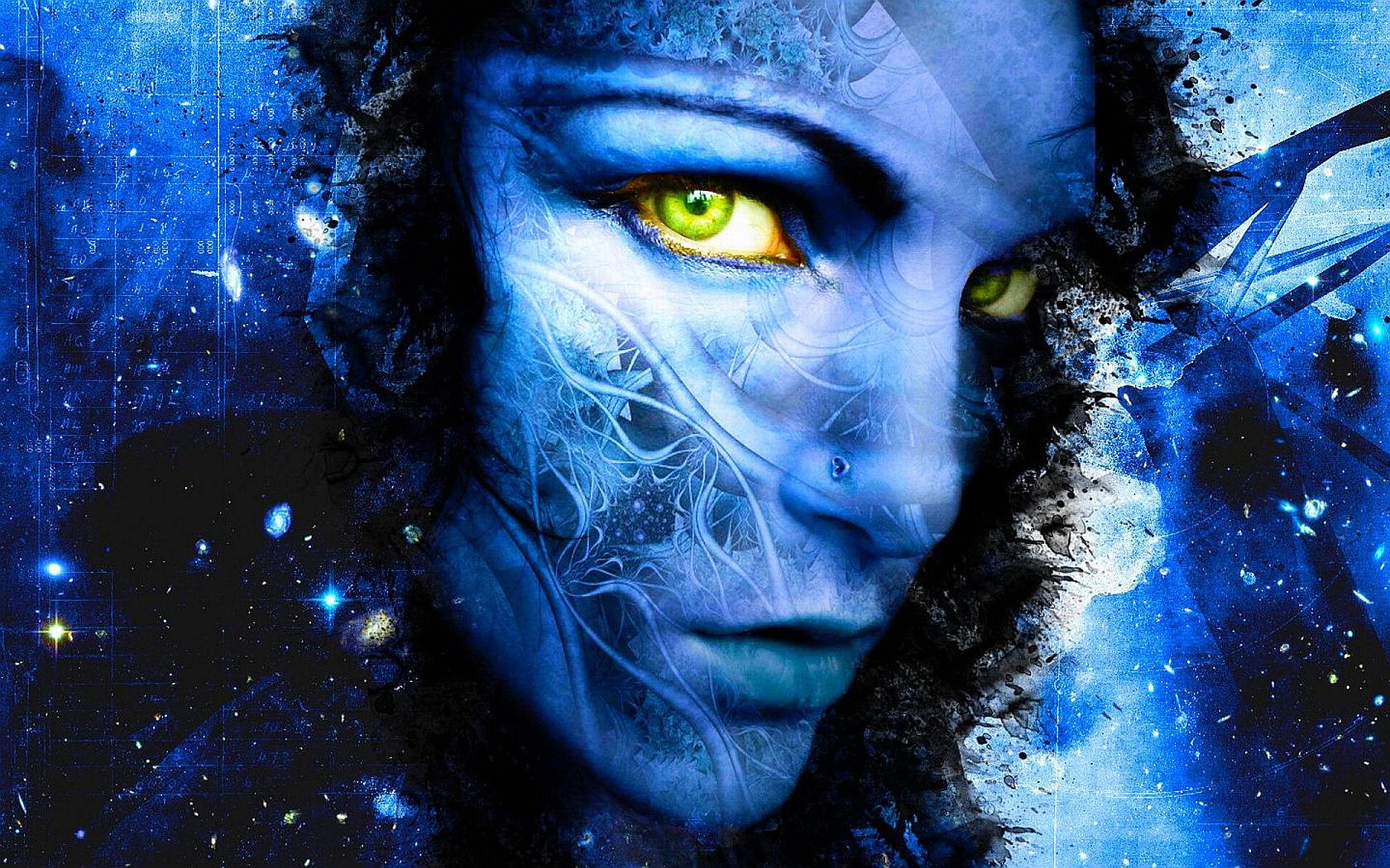 Eye Blue Artistic 1680x1050