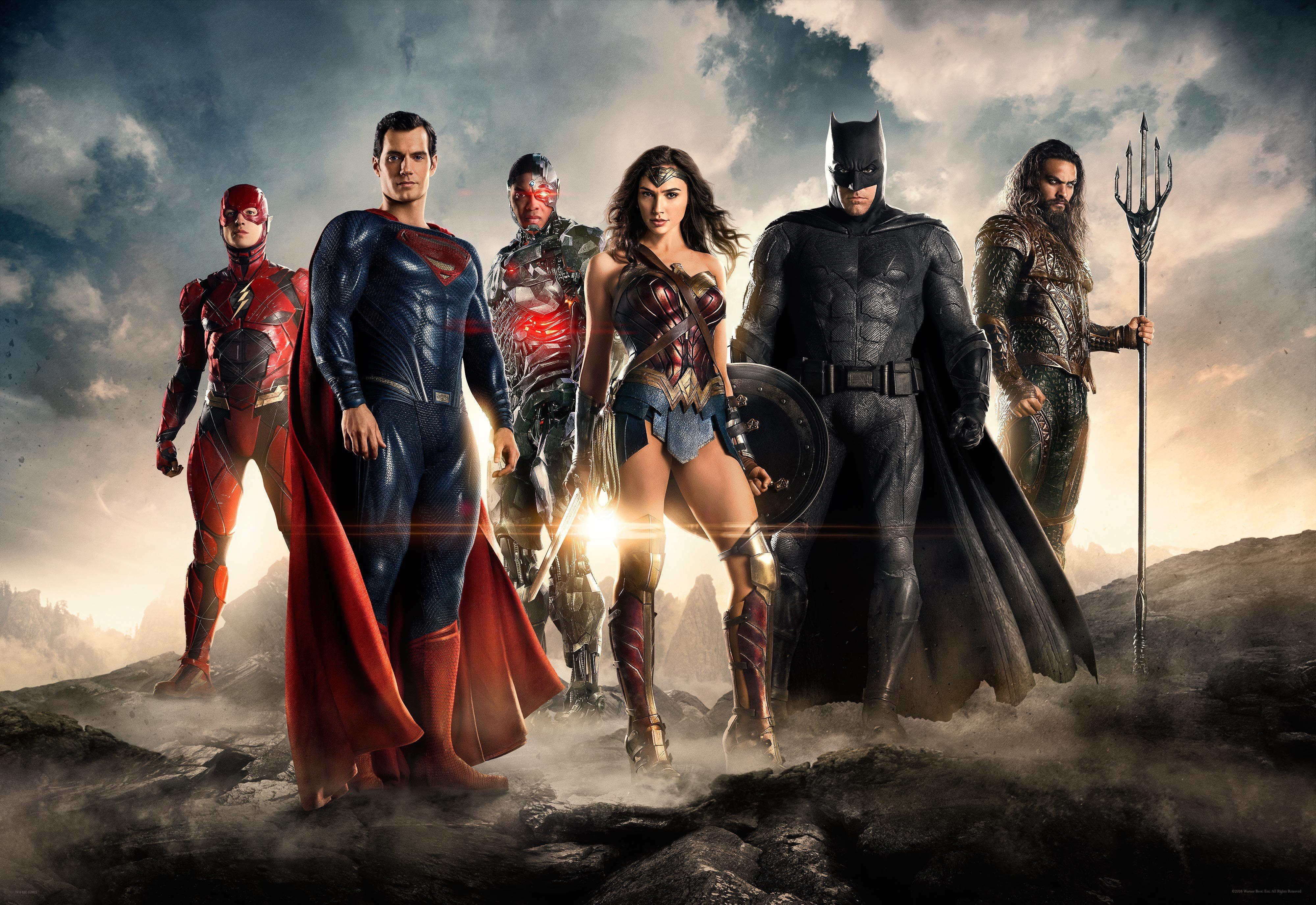 Flash Ezra Miller Superman Henry Cavill Cyborg DC Comics Ray Fisher Wonder Woman Gal Gadot Batman Be 4000x2750