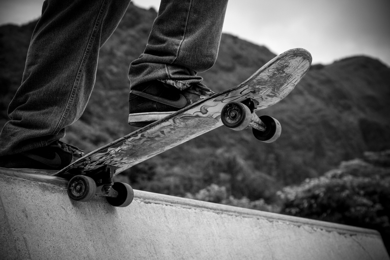Skateboard Skateboarding Black Amp White Sport Outdoor 3000x2000