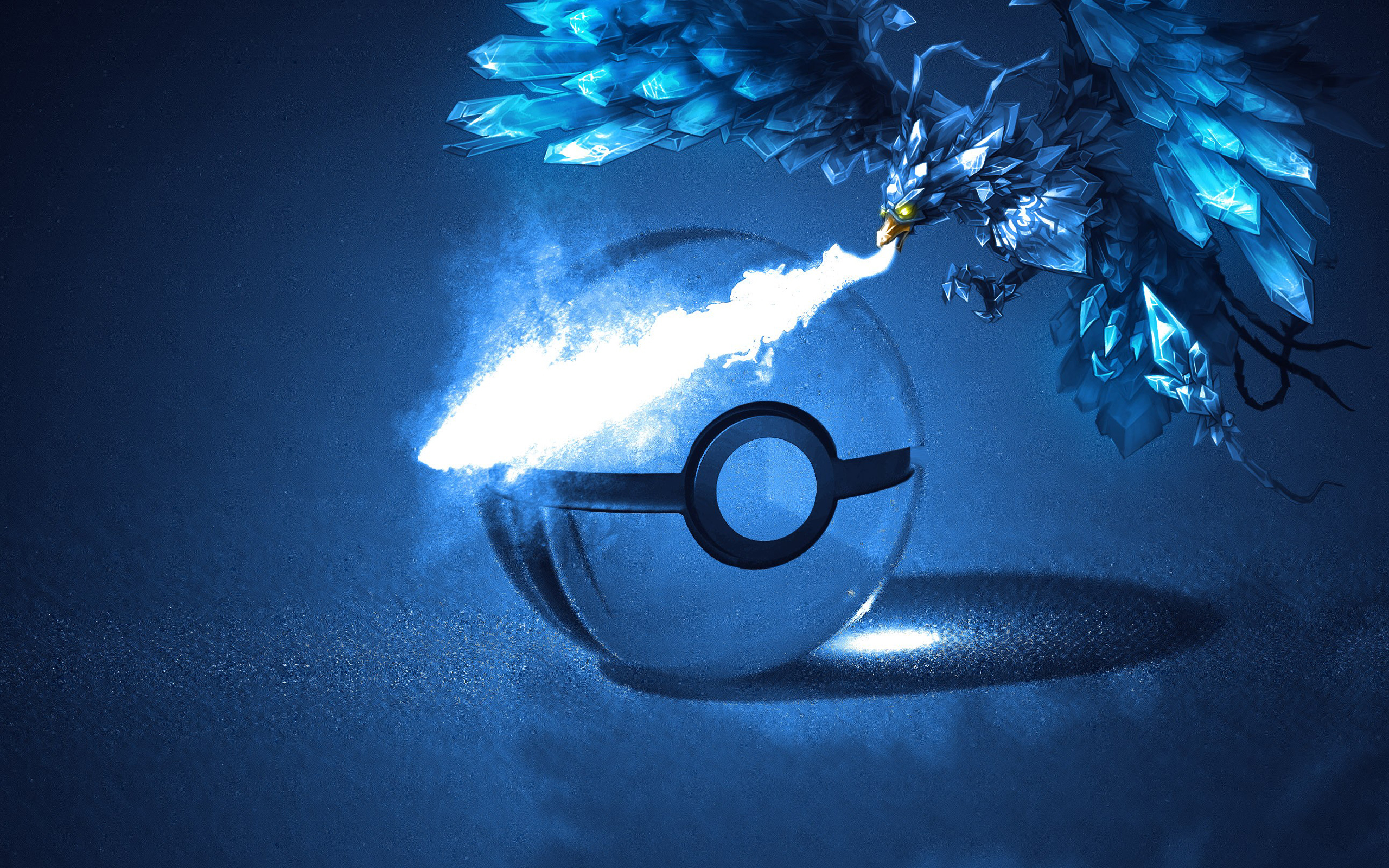 Articuno Pokemon Pokeball Wallpaper Resolution 2560x1600 Id 780333 Wallha Com