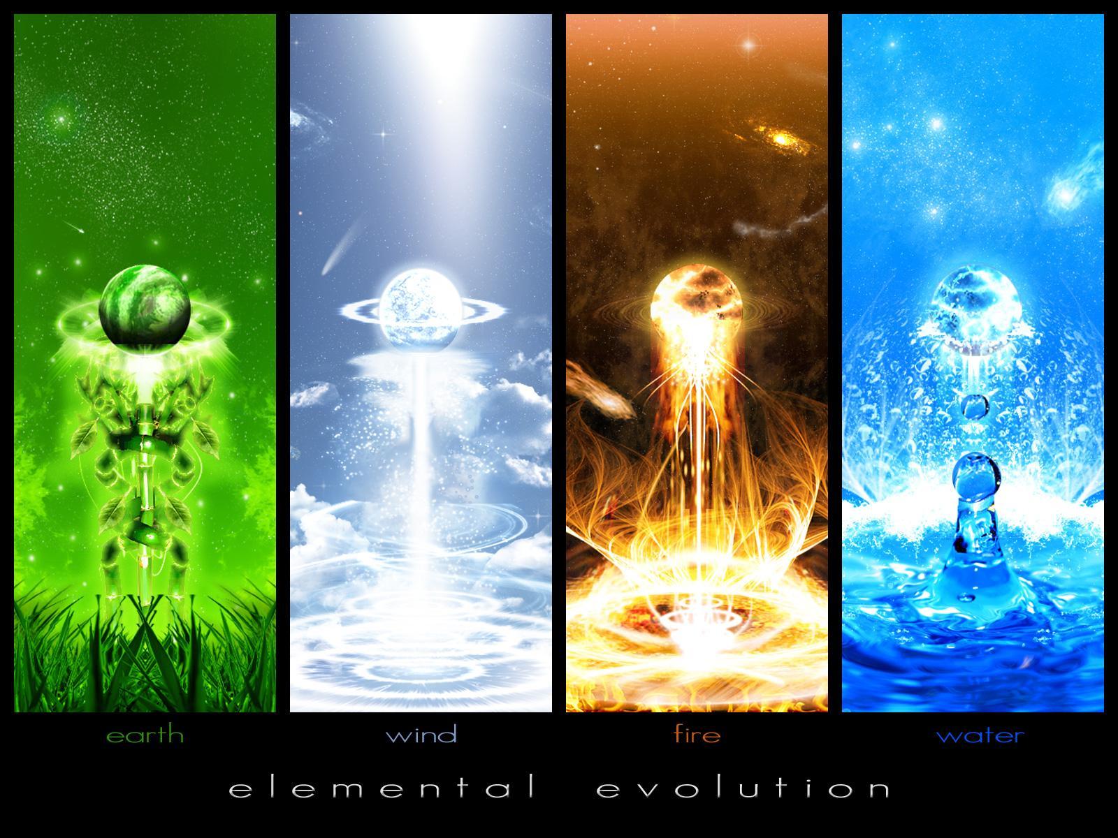 Earth Elemental Fire Water 1600x1200