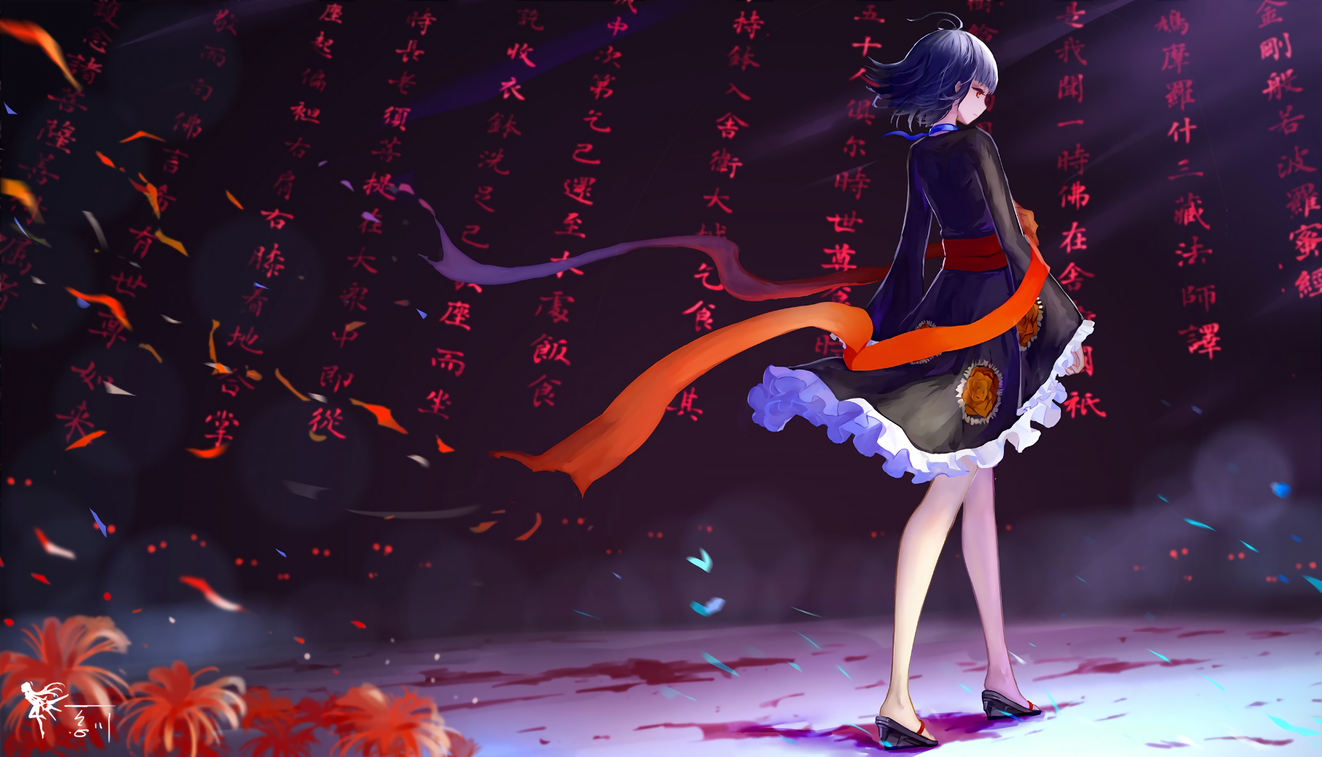 Blue Hair Flower Girl Kabaneri Of The Iron Fortress Kimono Koutetsujou No Kabaneri Mumei Kabaneri Of 1920x1100