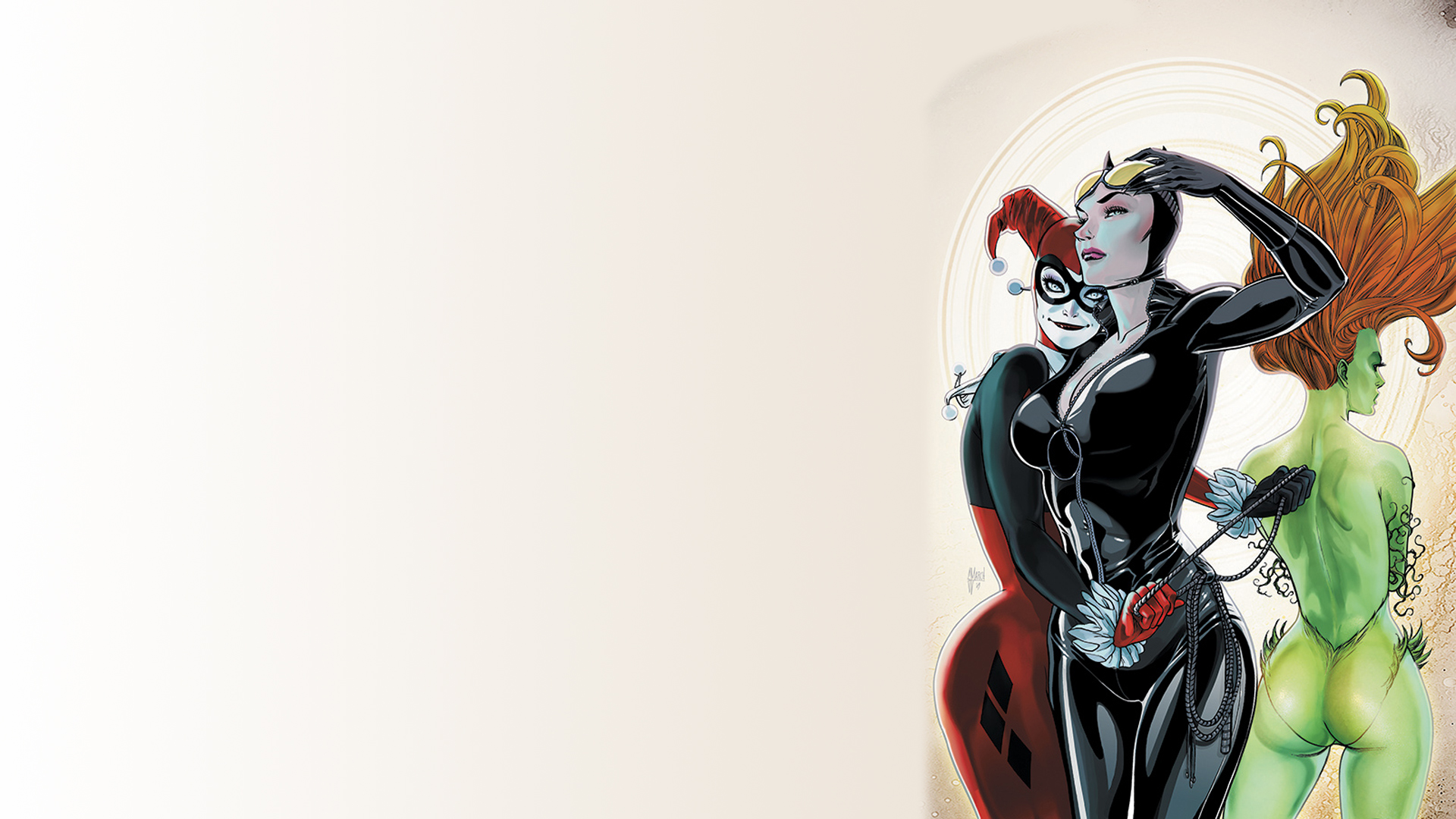 catwoman harley quinn poison ivy wallpaper resolution 1920x1080 id 899996 wallha com catwoman harley quinn poison ivy