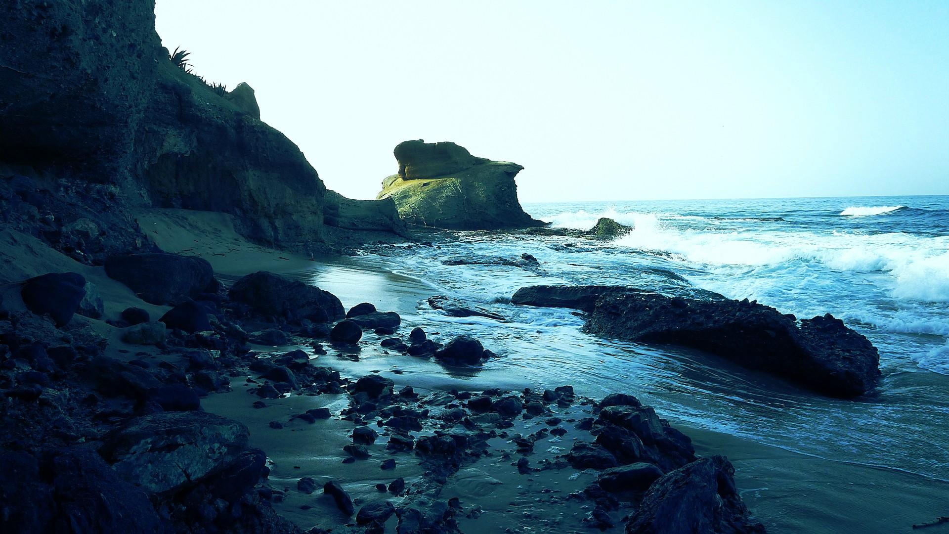 Beach Earth Rock Water 1920x1080