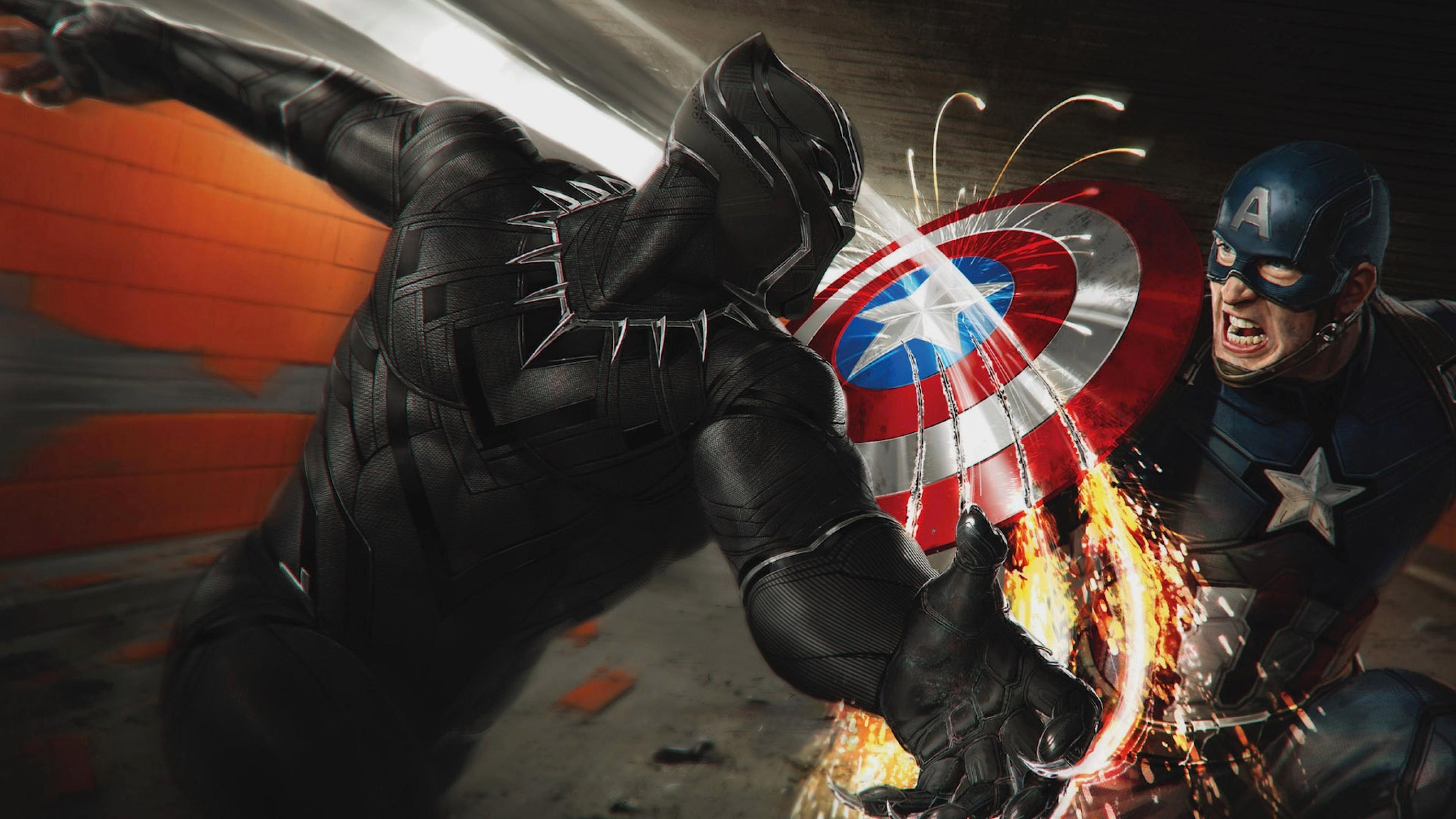 Black Panther Marvel Comics Captain America 3840x2160