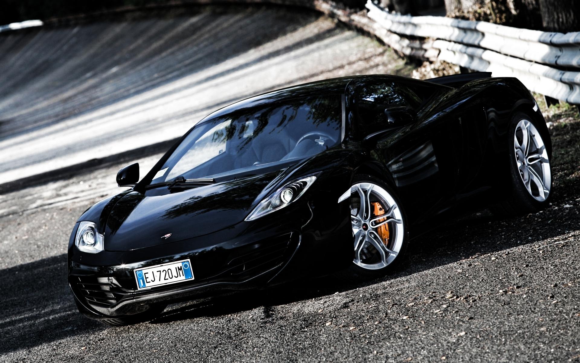 Black Car Car Mclaren Mclaren 12c Mclaren Mp4 12c Supercar Vehicle Wallpaper Resolution 1920x1200 Id 893385 Wallha Com