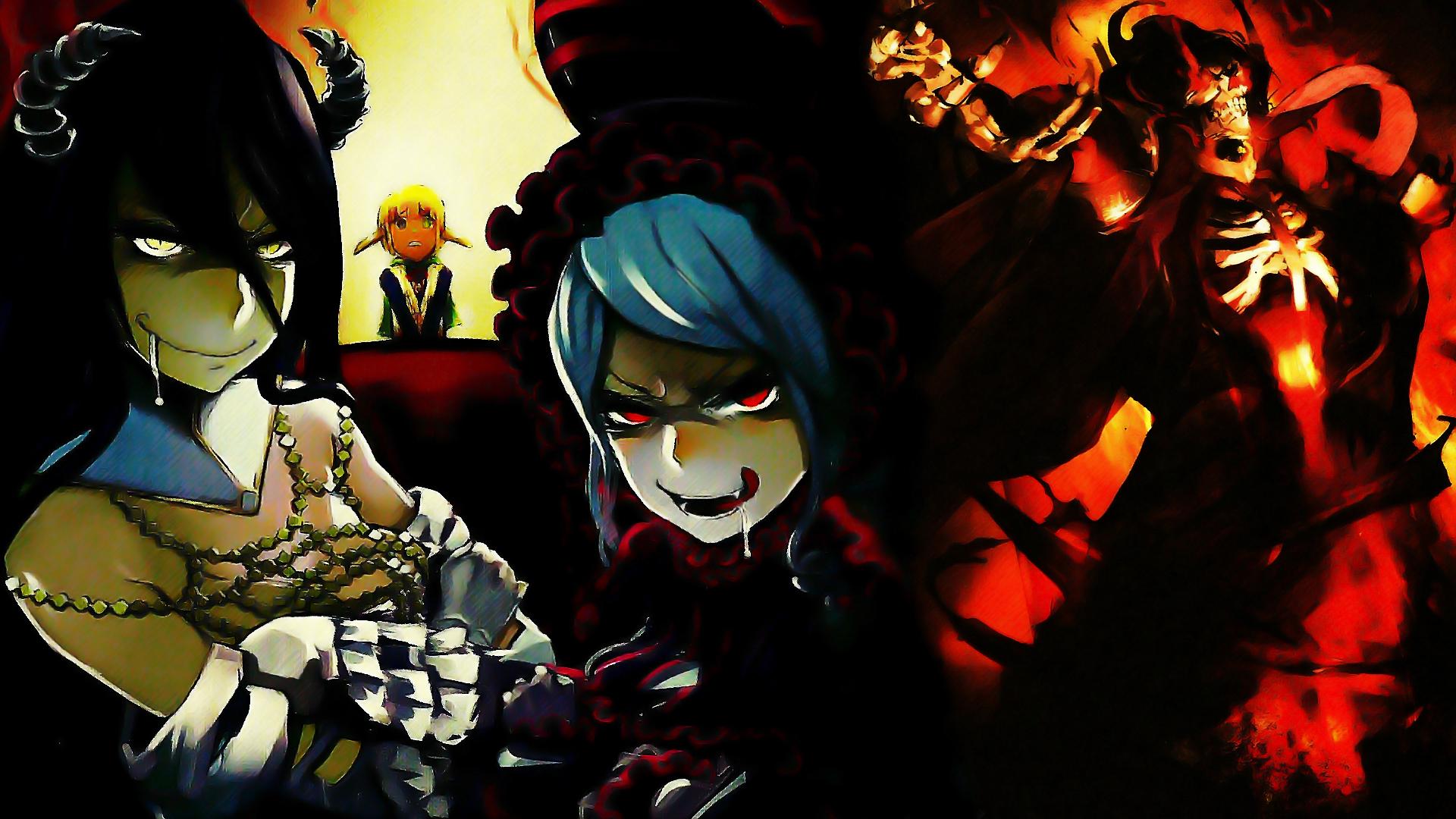 Ainz Ooal Gown Albedo Overlord Overlord Anime Shalltear Bloodfallen 1920x1080