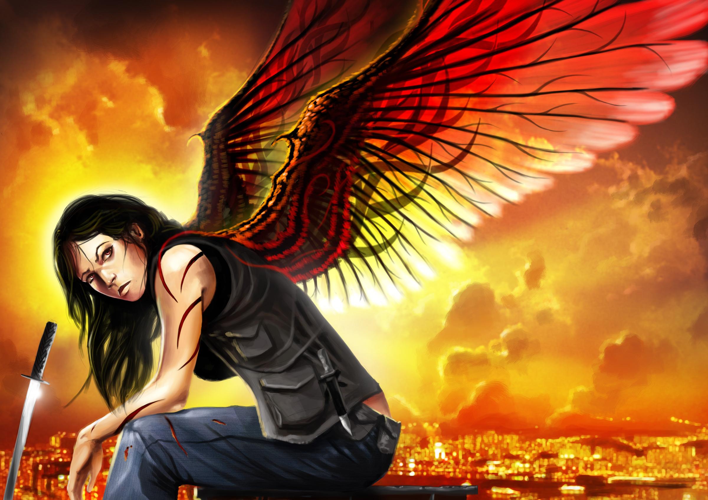 Fantasy Angel Warrior 2400x1694